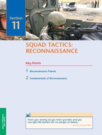 SQUAD TACTICS: RECONNAISSANCE - UNC Charlotte Army ROTC