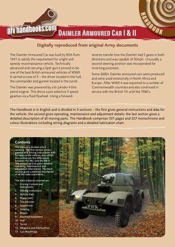 Daimler Armoured Car I & II - AFV Handbooks