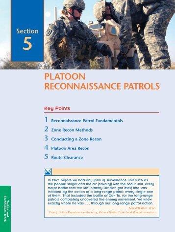 PLATOON RECONNAISSANCE PATROLS - UNC Charlotte Army ...