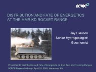 Nitroglycerin Distribution in Surface Soil - Impact Area Groundwater ...