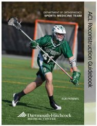 ACL Reconstruction Guidebook (2.2MB) - Dartmouth-Hitchcock