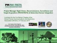 Project Manager Night Vision, Reconnaissance ... - AFCEA Belvoir