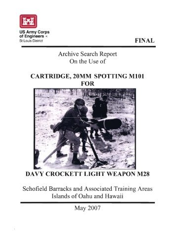 Archive Search Report On the Use of - U.S. Army Garrison-Hawaii