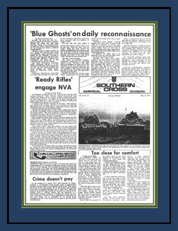 'Blue Ghosts'on daily reconnaissance - A Company 4/3/ 11th Light ...