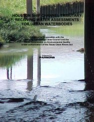 Houston Ship Channel Tributary: Receiving Water Assessment