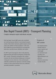 Bus Rapid Transit (BRT) – Transport Planning - Mercedes-Benz BRT