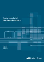 Rapier Series Switch Hardware Reference - Allied Telesis