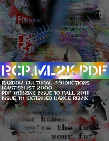 "Issue 10 Fall 2011 ""Extended Dance Remix"" - Master-List2000"