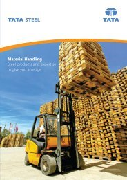 Material Handling Steel products and expertise to give you an edge