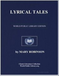 LYRICAL TALES - World eBook Library - World Public Library
