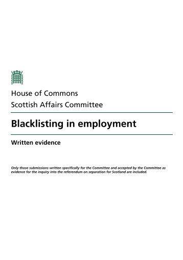 Written evidence - Parliament