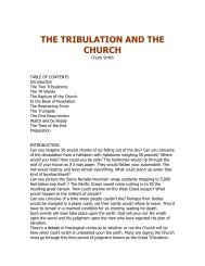 THE TRIBULATION AND THE CHURCH - Biblesnet.com