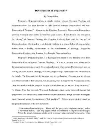 Progressive Dispensationalism [PDF Format Only] - Middletown ...
