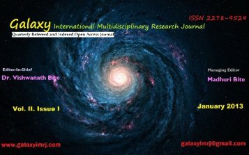 indianness in the poetry of sarojini naidu - Galaxy: International ...
