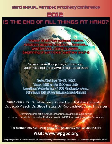 2012 - Winnipeg Prophecy Conference