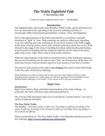 The Noble Eightfold Path - Dr. Rick Hanson