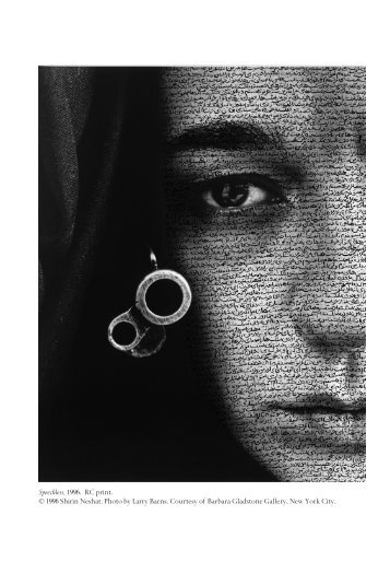 An Interview with Shirin Neshat - Feminist Studies