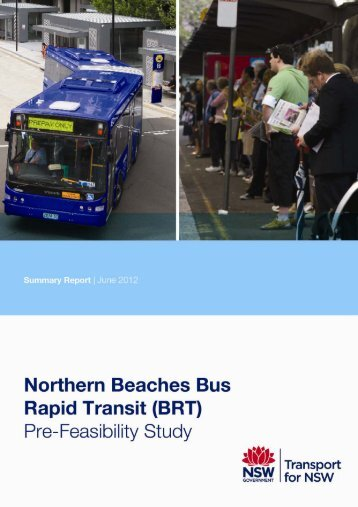 Northern Beaches Bus Rapid Transit Pre-Feasibility Study