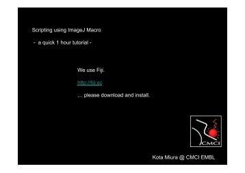 Scripting using ImageJ Macro - a quick 1 hour tutorial - Kota Miura ...