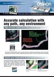 FZ3-UGI/UGIH ision sensor software for Glue Bead Inspection