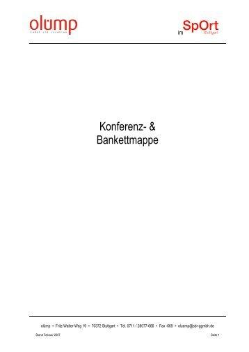 Konferenz- & Bankettmappe - SpOrt Stuttgart