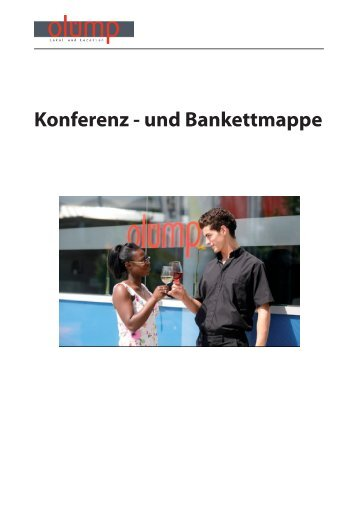 Konferenz - und Bankettmappe - SpOrt Stuttgart