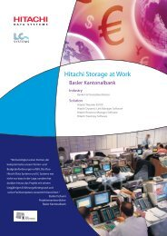 Hitachi Storage at Work - LC Systems Engineering AG