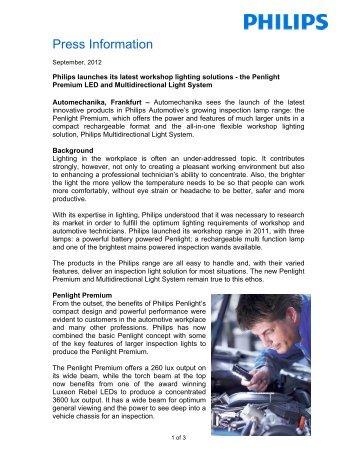 LED Inspection lamps press release (pdf)
