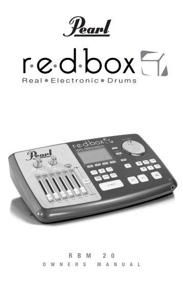RBM-20 Module Owner'sManual - Pearl Music Europe