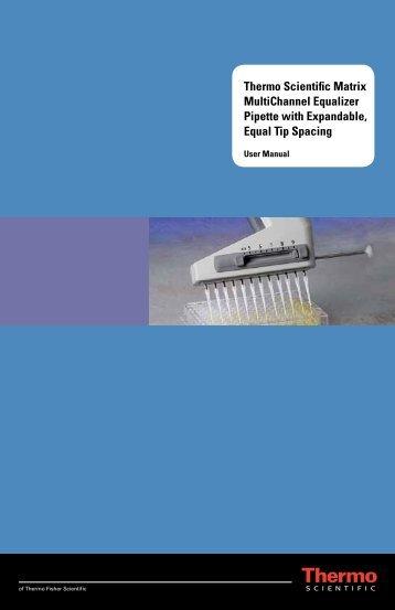 Thermo Scientific Matrix MultiChannel Equalizer ... - Fisher Scientific