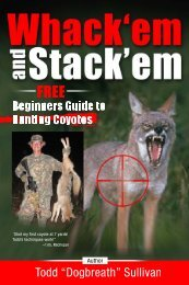 So You Want To Be A Coyote Hunter - Free Beginner's guide to ...