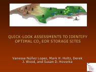 quick-look assessments to identify optimal co2 eor storage sites