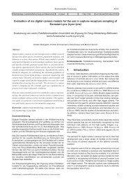 1 Introduction Evaluation of six digital camera models for the ... - AFSV