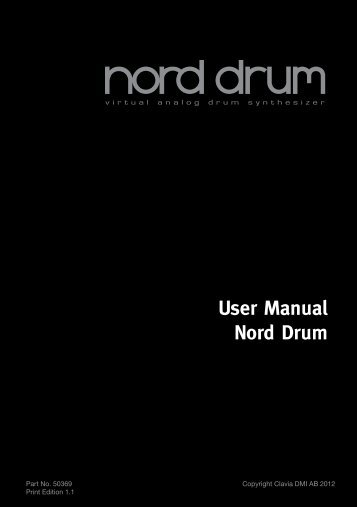 User Manual Nord Drum - Clavia