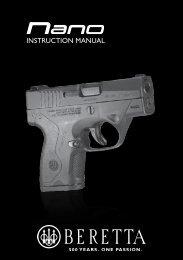 INSTRUCTION MANUAL - Beretta