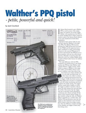 Walther's PPQ pistol - Frontier Arms