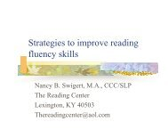 Strategies to improve reading fluency skills