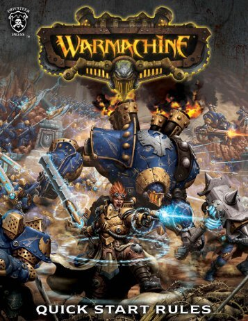 WARMACHINE: Quick Start Rules (Front) - Privateer Press