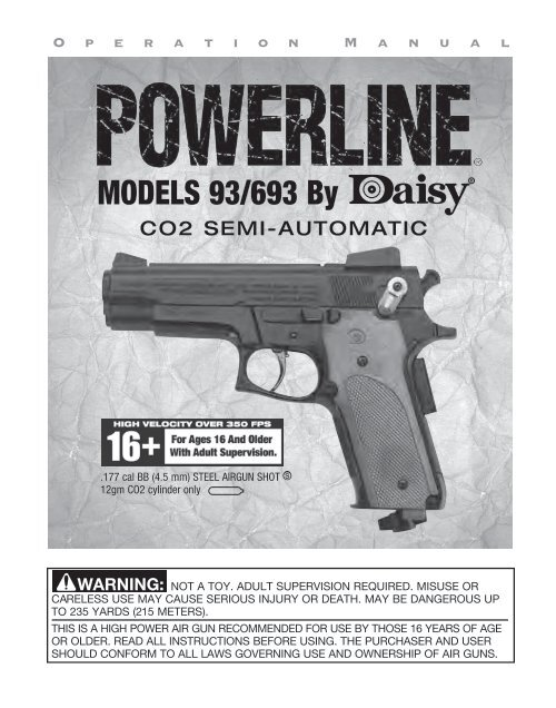 MODELS 93/693 By - Daisy Outdoor Products