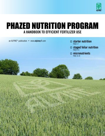 view ALPINE'S Efficient Use of Fertilizer - Alpine Plant Foods