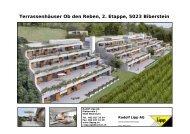 Terrassenhäuser Ob den Reben, 2. Etappe, 5023 Biberstein - Lipp AG