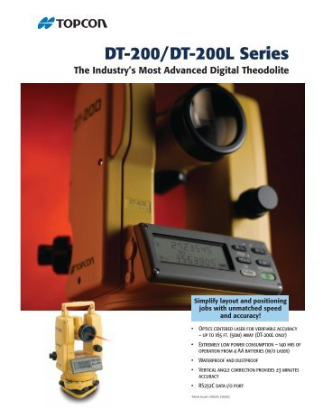 DT-200/200L Catalogue
