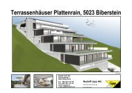 Terrassenhäuser Plattenrain, 5023 Biberstein Kurz - Lipp AG
