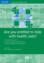 Are you entitled to help with health costs? - NHS Business Services ...