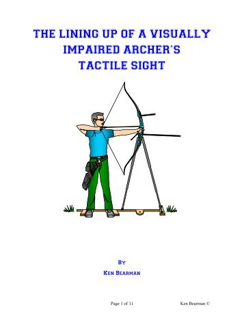 The lining up of a visually impaired archer