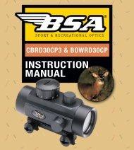 INSTRUCTION MANUAL - BSA Optics