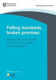 Falling standards, broken promises - Royal College of Physicians