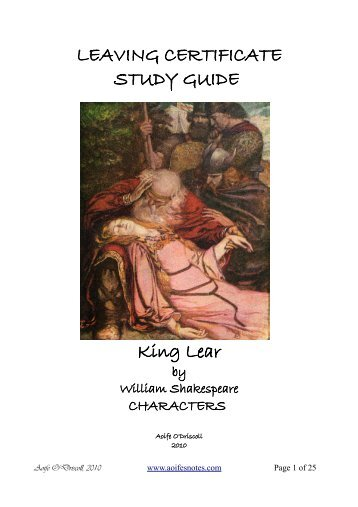 an overview and analysis of the tragic play king lear by william shakespeare King lear by william shakespeare is a tragedy written mainly in blank verse concerning the downfall of king lear and the earl of gloucester due to the ingratitude of their children it was first performed in 1606 king lear is an aging monarch with no male heir he decides to divide his kingdom among his three daughters and their husbands.