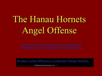 The Hanau Hornets Angel Offense - Fast and Furious Football
