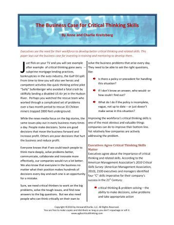 agile critical thinking framework Articles on critical thinking listed below are articles on critical thinking  the perry framework and tactics for teaching critical thinking in economics.